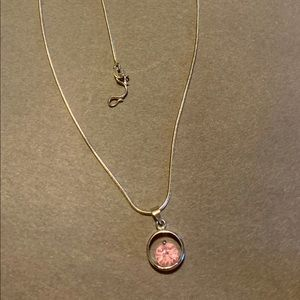 18k GP stamped necklace and pendant